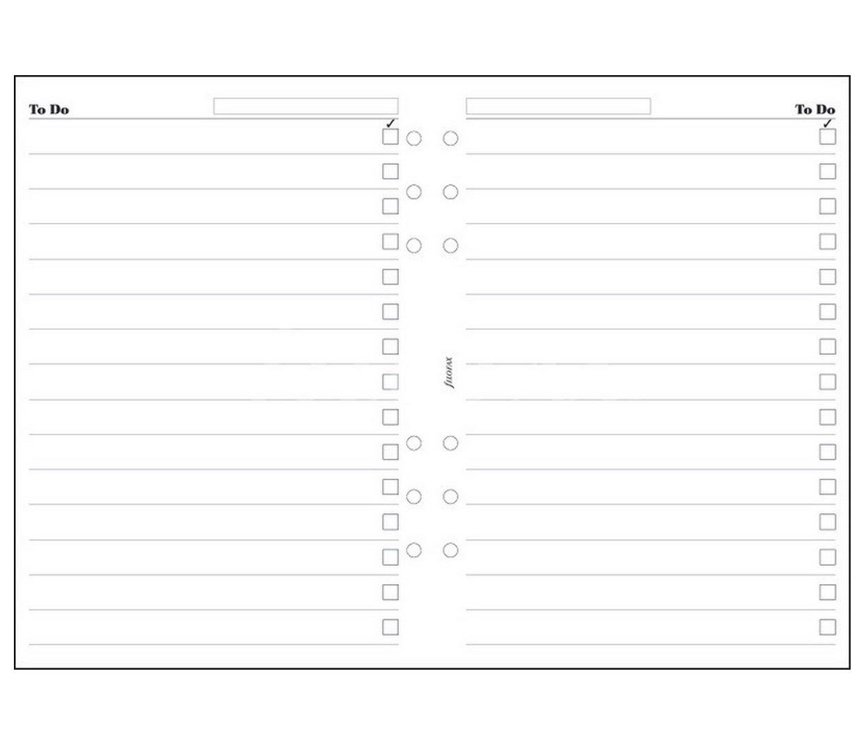 Filofax Einlagen fü r Terminplaner, A5, To Do List Refill Essentials 342211 Einsatz, Zubehö r