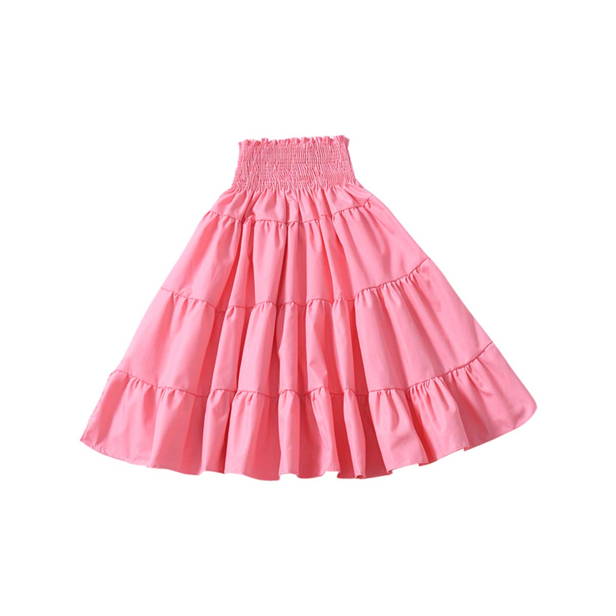 Pinleck Toddler Baby Girls Layered Dress Tiered Skirt Versatile Solid Pleated Sundress