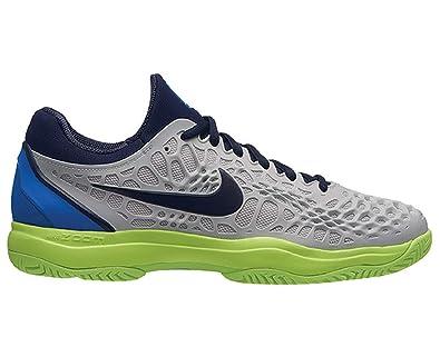 b40a95d5d387 Nike Men s s Air Zoom Cage 3 Hc Tennis Shoes Multicolour (Vast  Grey Blackened Signal