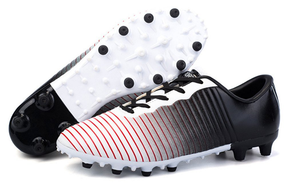 Spike Black 7.0 AU XiXiHao Unisex's Classic Professional Soccer shoes Men Outdoor Sports Training Football Boots Turf Soles Sneakers