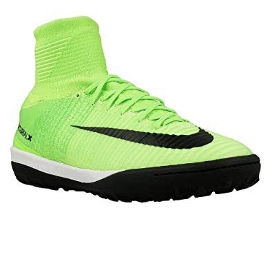buy popular afac2 f6247 Nike Men s MercurialX Proximo II Dynamic Fit Turf Electric Green Black Flash  Lime Soccer