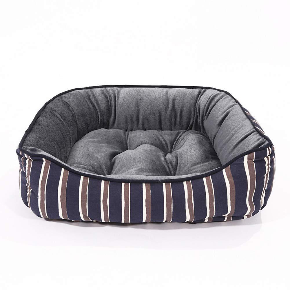 45x35x15cm Kennel Pads Dog Beds Pet Bed, Printed Canvas Velvet Kennel Cat Litter, Fashion Warm Pet Supplies,45X35x15cm Cat Bed Pet Supplies Cover (Size   45x35x15cm)