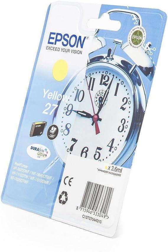 Original Epson C13t27044010 27 Tinte Gelb Inhalt 3 60 Ml Für Workforce Wf 3620 Wf 3640 Wf 7110 Wf 7610 Wf 7620 Bürobedarf Schreibwaren