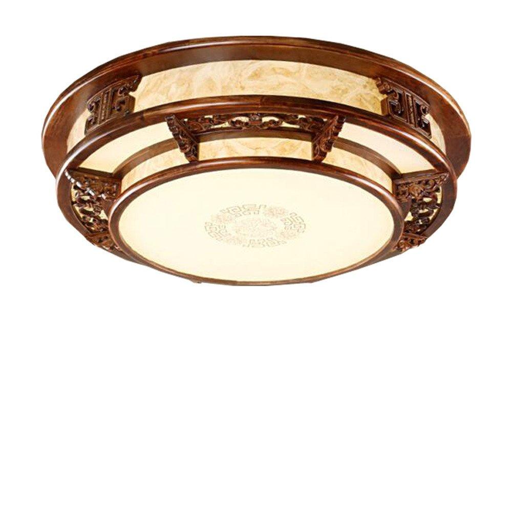 BRIGHTLLT Das Wohnzimmer Deckenleuchte rund Massivholz Lampen Chinesische klassische Atmosphäre im Restaurant LED-emulation Schlafzimmer Studie Lampen, 560 mm