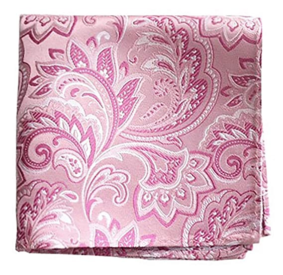 4c5337498e6c6 The Tie Bar 100% Woven Silk Pink Paisley Pocket Square at Amazon ...