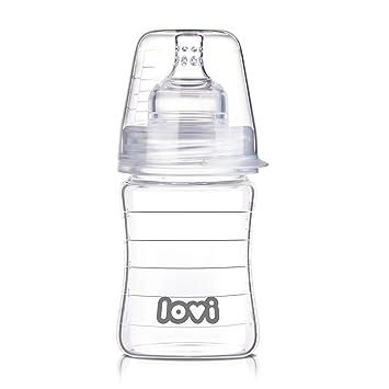 LOVI Anticólica Botella Biberón de Vidrio con Tetina ...