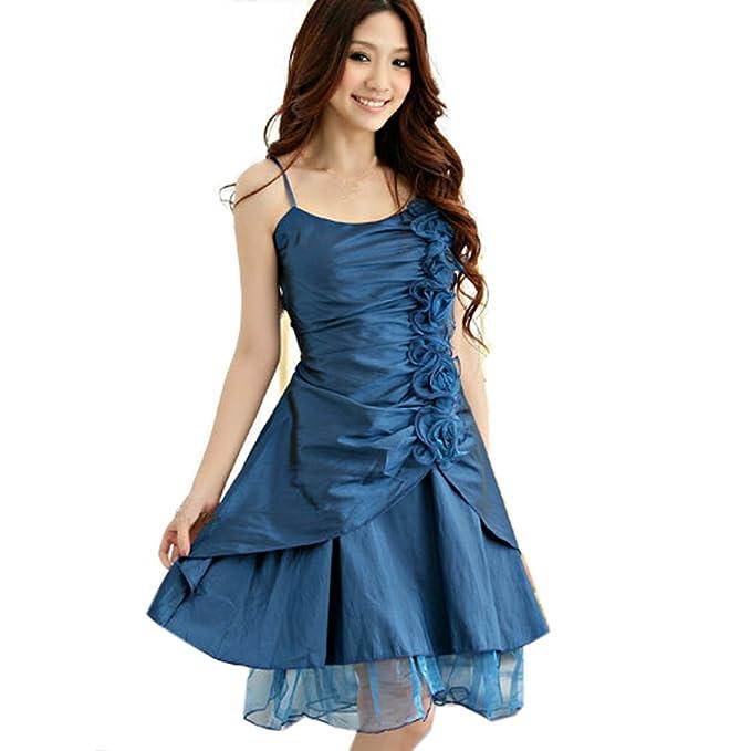 Partiss de la mujer Plus tamaño fiesta noche vestidos azul azul XXL