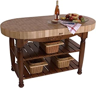 """product image for Harvest Table Kitchen Island (Useful Gray Stain) (36""""H x 60""""W x 30""""D)"""