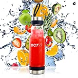 Oct17 Tea Infuser Glass Water Bottle - Hot and Cold Fruit Drink...
