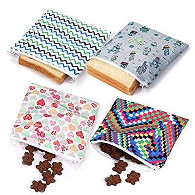 Reusable Sandwich bags Snack Bag Dishwasher Safe Eco Friendly Lunch Baggies for Kids