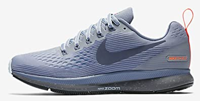 Nike Women's Air Zoom Pegasus 34 Running Shield Shoe WOLF GREY/THUNDER  BLUE-DARK