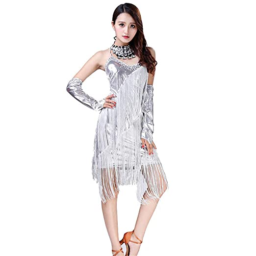 Falda elegante espectáculo Vestido de baile latino Sail Tango ...