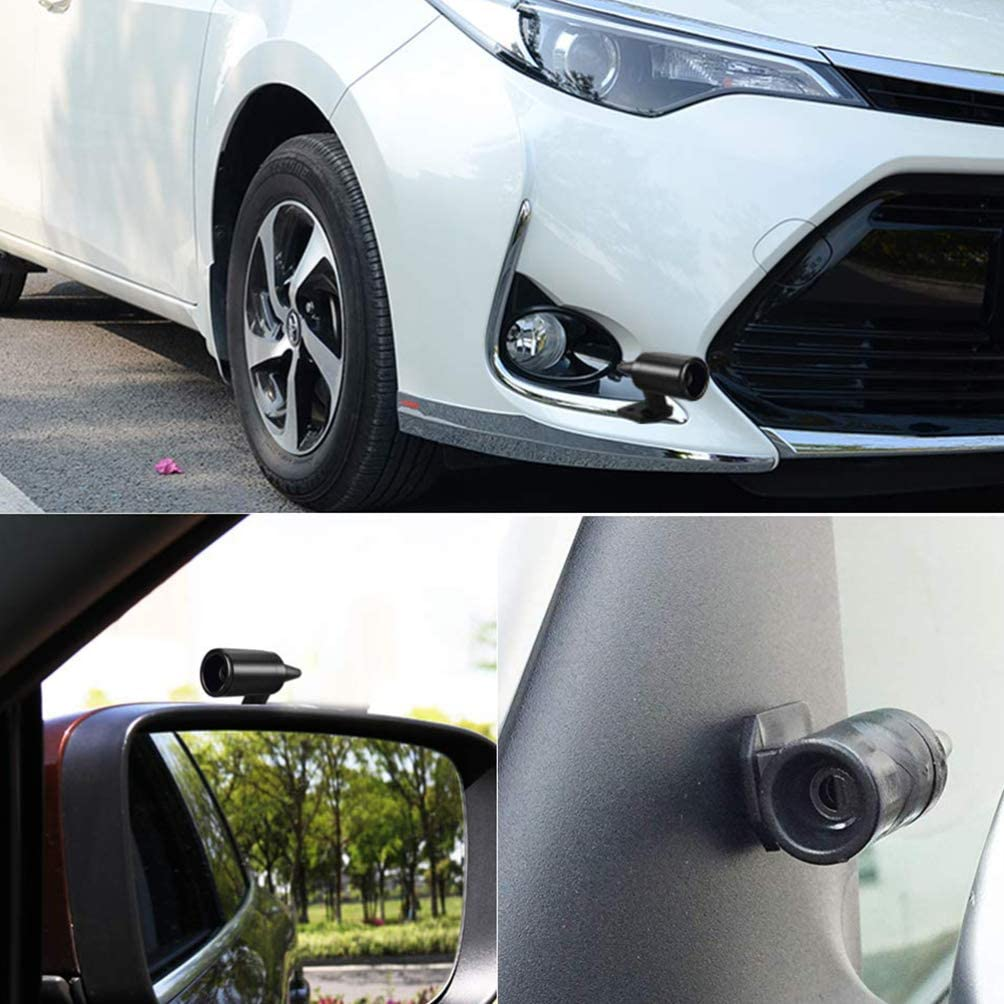 Wakauto 4 pezzi fischietto per cervo auto universale fischietto per avvertimento cervi animali automobilistico professionale argento