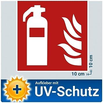 5x Feuerlöscher Aufkleber Sticker, Brandschutzzeichen Schild mit UV ...