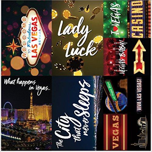 Reminisce Ve100 Las Vegas Poster Stickers 12x12-