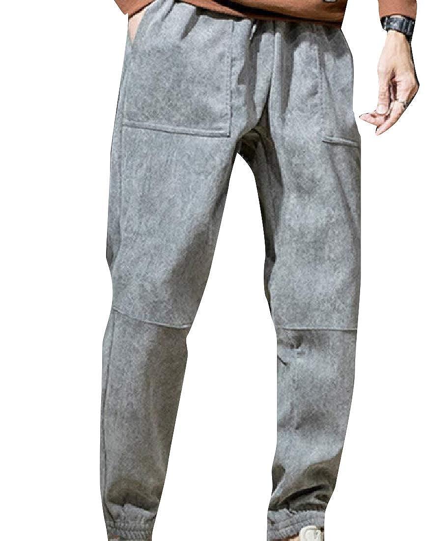 CuteRosa Men's Brumal Warm Velvet Relaxed-Fit Middle Rise Casual Pant B07L81XJZ7 Hosen Ausgezeichnete Qualität