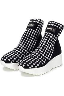 Gioselin Scarpe Donna Sneakers Borchie Light Studs Black  Amazon.it ... 9356fd3c3b3