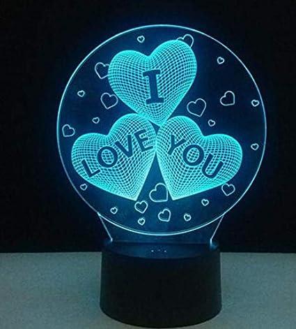 QiXian Nachtlicht Wandleuchte Led Lampe 3D Led Lichter Dekoration Urlaub Dekoration Familie Hochzeit Dekoration Lichter USB
