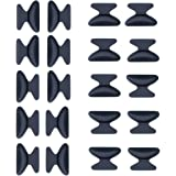 EWIN(R) 10pcs 2.5mm Eyeglass Sunglass Glasses Spectacles Anti-Slip Silicone Soft Stick on Nose Pads (Black)
