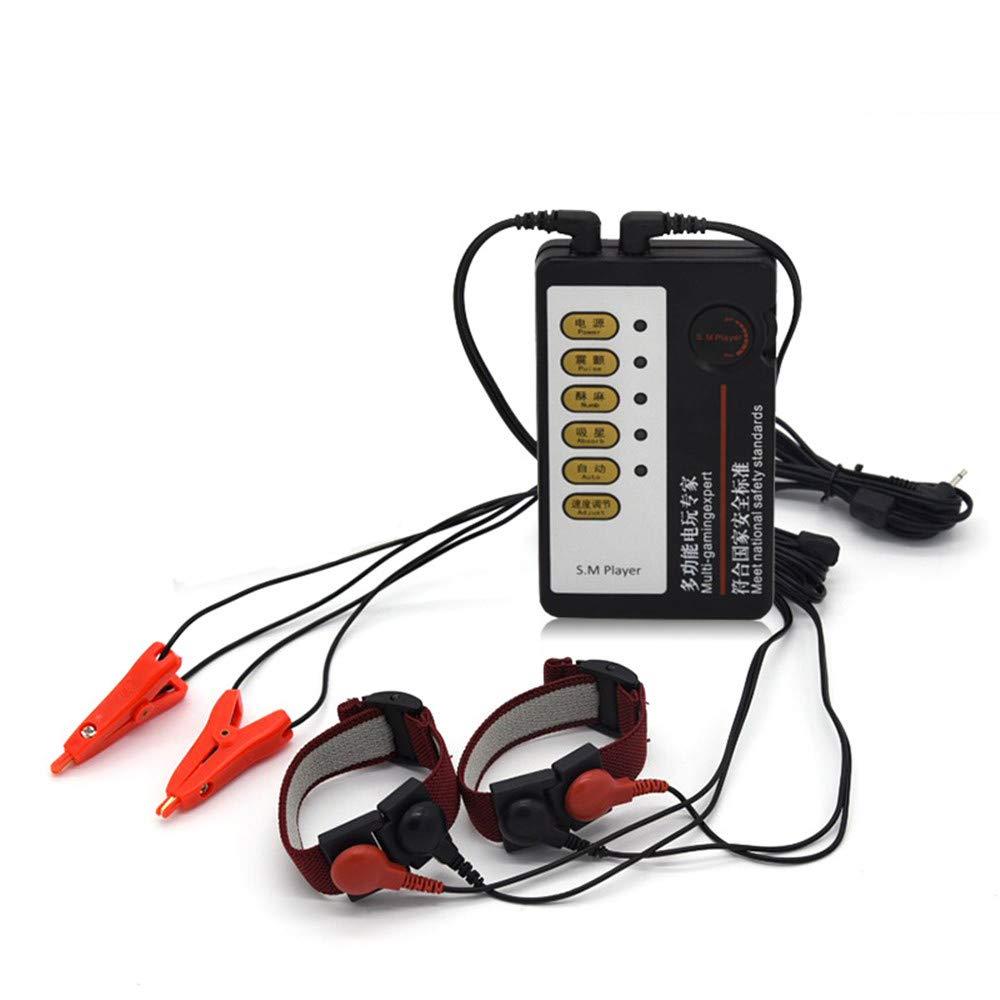 Santchcz Masajeadores De Choque Eléctrico Juguetes Sexuales Sexuales Sexuales Kits Electro Shock Cock Ring & Nipple Clamps Electro Medical Toys para Hombres cbbc9c