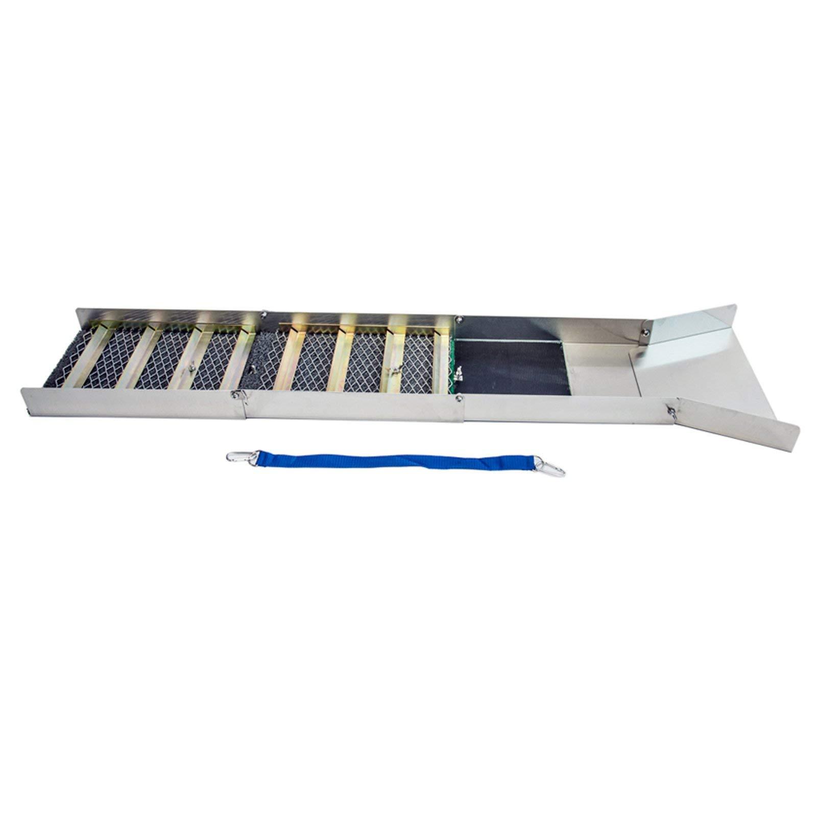 ASR Outdoor ASROFASBS Gold Pan Sluice Box, 50'' Silver