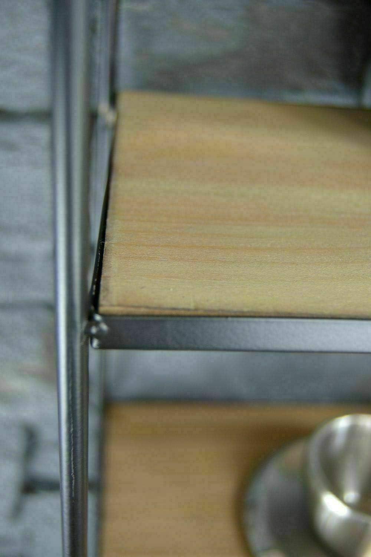 Livitat/® Wandregal Metall H/ängeregal K/üchenregal Gew/ürzregal Gew/ürzboard Gew/ürzst/änder Industrie Holz LV5038
