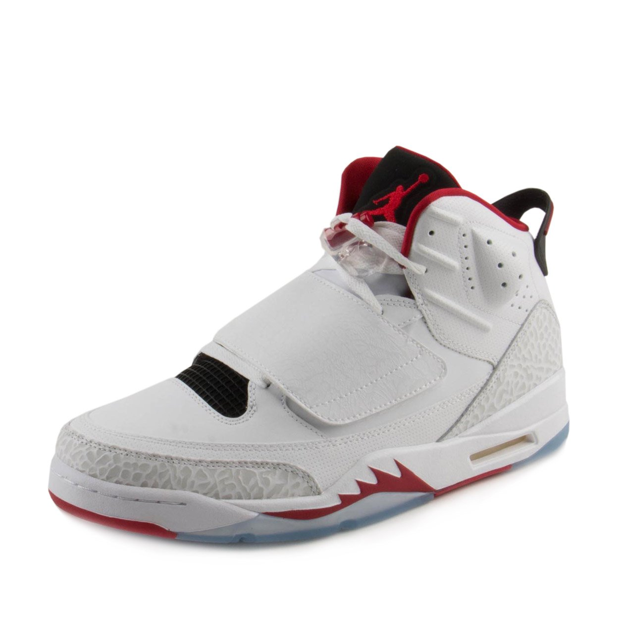 JORDAN SON OF mens basketball-shoes 512245-112_12 - WHITE/GYM RED-BLACK-PURE PLATINUM by Jordan