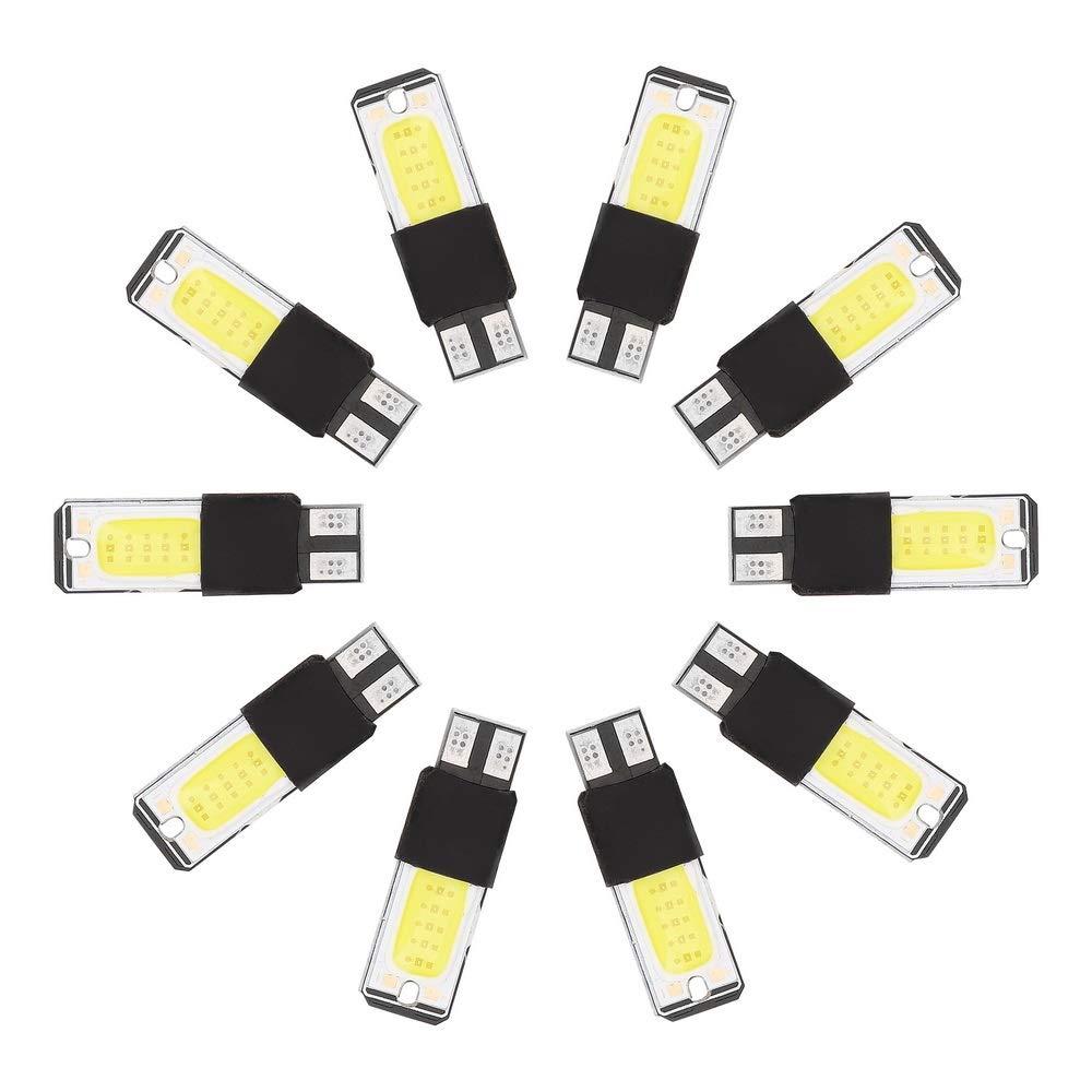10 Stü ck/Set Auto Innenraumbeleuchtung Seitenlicht Kennzeichenbeleuchtung T10 COB LED Licht Holdream