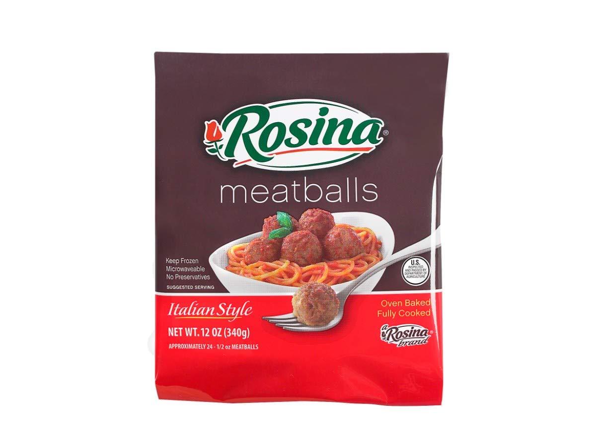 Rosina Food Traditional Italian Meatball, 12 Ounce -- 12 per case. by Rosina Food