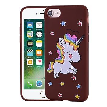 coque iphone 8 silicone cheval