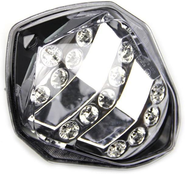 Get/önt LED-Bremslicht mit integriertem Blinker f/ür Suzuki GSXR1000 K3 K4 2003//2004