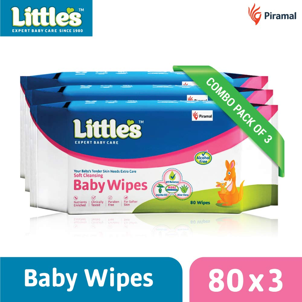 589700761 Buy Little's Soft Cleansing Baby Wipes (Pack of 3, 80 Wipes) Online at Low  Prices in India - Amazon.in