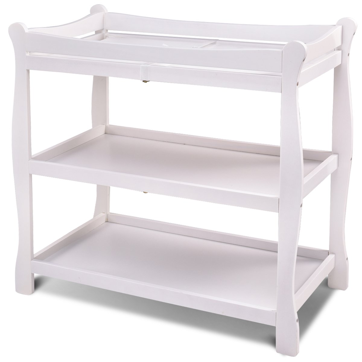 Costzon Baby Changing Table Infant Newborn Nursery Station Dressing Changer (White)