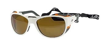 Julbo Explorer 2.0 Gafas de Sol, Blanco Mate, Cameleon Anti-Niebla Lentes Fotocromáticas