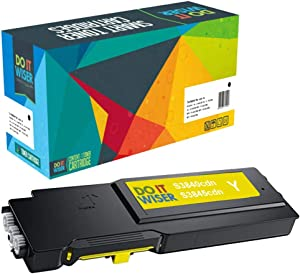 Do it Wiser Compatible Toner Cartridge Replacement for Dell S3840cdn S3845cdn 593-BCBD Yellow Extra High Yield