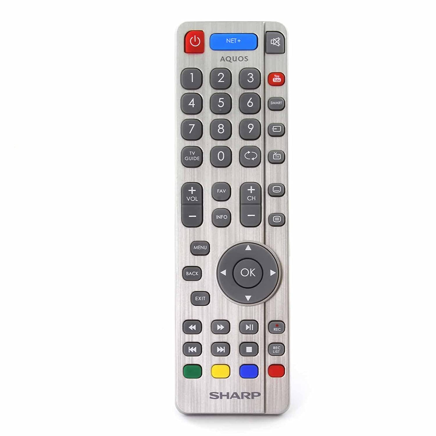 Control Remoto para Sharp Aquos RF Smart TV with Youtube and Net+ Buttons: Amazon.es: Electrónica