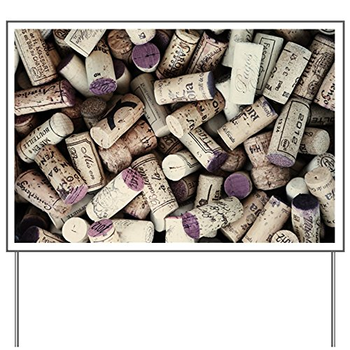 Yard Sign I love Wine Corks
