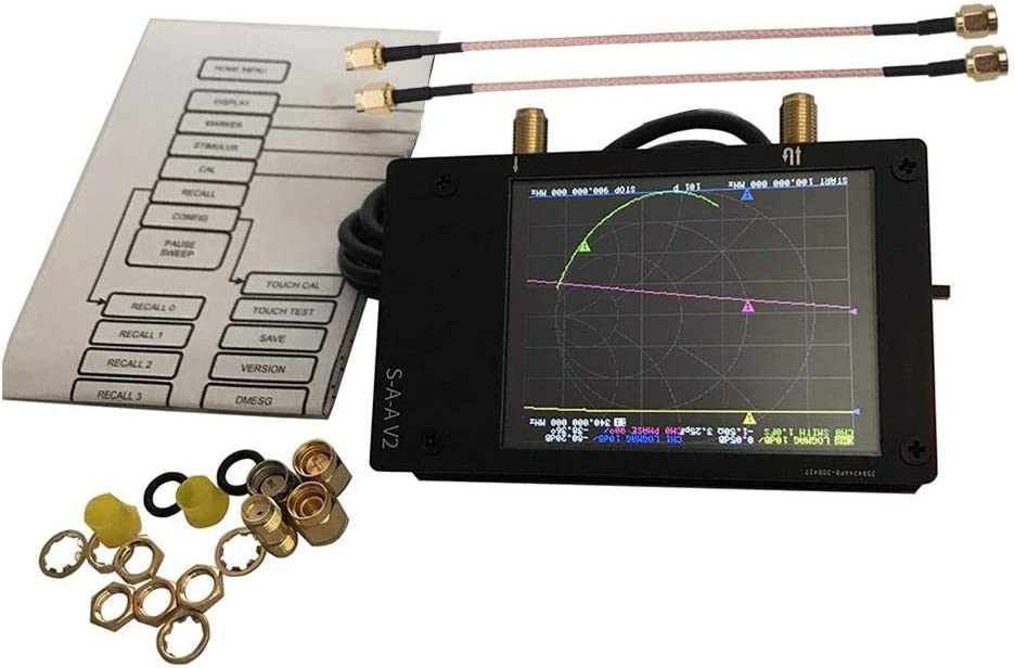 2.8 Pulgadas S-A-A-2 Analizador De Antena NanoVNA V2 De Onda Corta HF VHF UHF 50kHz-3GHz Fiaoen Analizador De Red Vectorial 3G