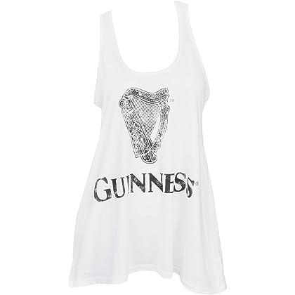 Guinness Distressed Harpロゴレディースタンクトップ