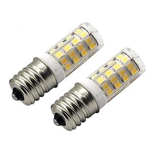 E17 LED Bulb Microwave Oven Light 4 Watt Warm White 3000K T7 T8 Intermediate Base LED Appliance Bulb T8 T7 Lightbulb dimmable AC110-130V (Pack of 2)
