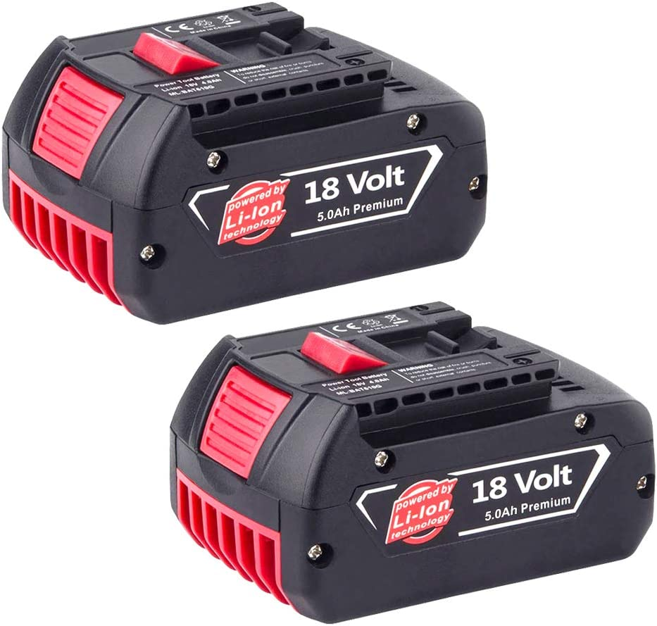2X GatoPower BAT618 Reemplazo para Bosch 18V Bater/ía 5.0Ah Li-ion BAT609G BAT609 BAT619 2607336169 BAT618G 2607336235 2607336170 BAT610G BAT620 BAT621 17618 Taladro Inalambrico