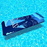 Personal Flotation Device Inflatable Lounger Air Mat, Blue Contemporary Modern Mens Women and Kids Swimming Pool Mattress & E-Book