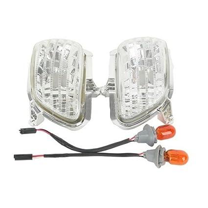 Amazon.com: Clear Front Side Turn Signal Lights For Honda ... on honda rebel wiring harness, honda cb750 wiring harness, honda goldwing wiring schematics, honda generator wiring harness,