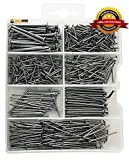 #3: Qualihome Hardware Nail Assortment Kit, Includes Finish, Wire, Common, Brad and Picture Hanging Nails