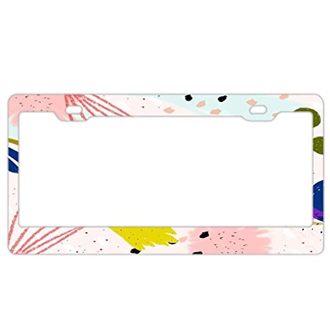 f818f443a Amazon.com  Abstract US License Plate Frame Tag Covers