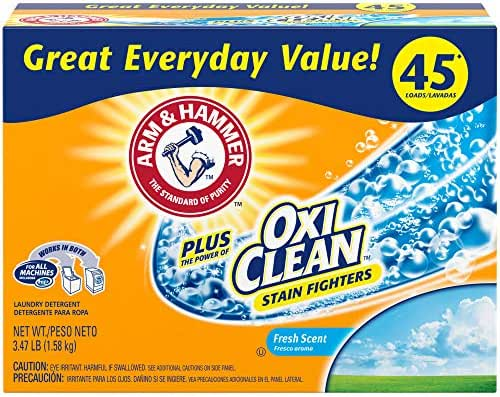 Laundry Detergent: Arm & Hammer Plus OxiClean