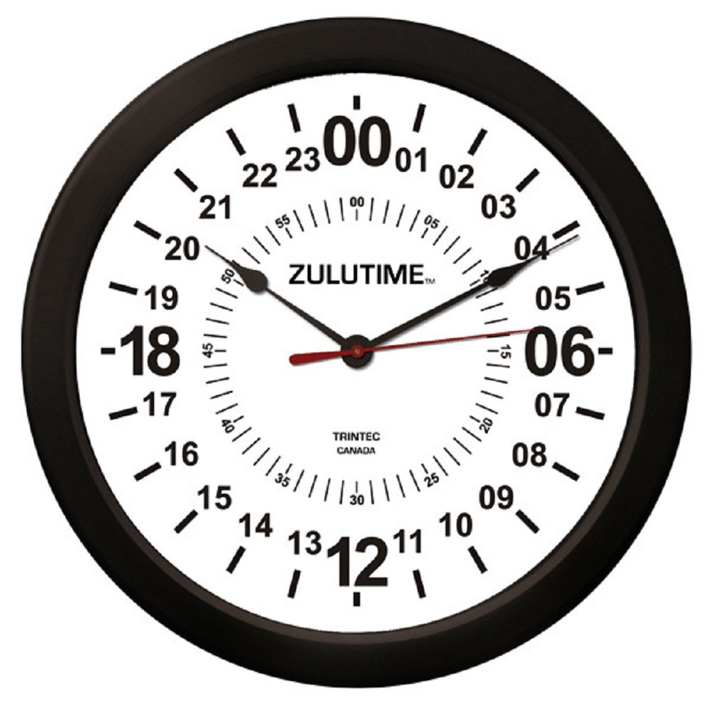 Amazon Trintec 14 24 Hour Military Wall Clock In White