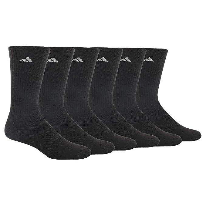 adidas Mens Athletic Cushioned Crew Socks (6-Pack)