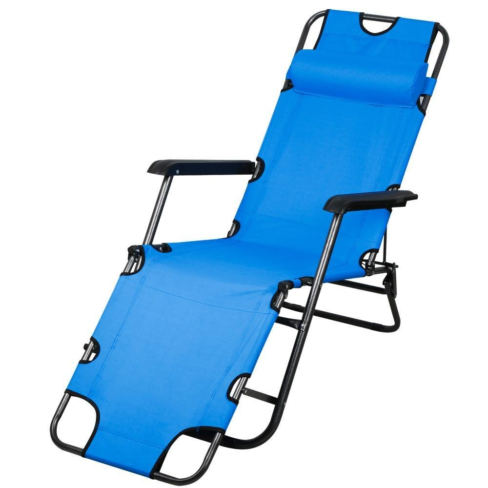 Amazon.com  Topeakmart Patio Folding Recliner Lounge Chair Chaise (Blue)  Garden u0026 Outdoor  sc 1 st  Amazon.com & Amazon.com : Topeakmart Patio Folding Recliner Lounge Chair Chaise ... islam-shia.org