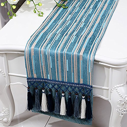 Table Runner Cotton And Linen Bed Runner Classic Stripe Bed Tail Towel Tea Table Cloth Hessian Table Placemat For Kitchen Entrance Shoes Rack (Color : StyleC, Size : 33150cm)